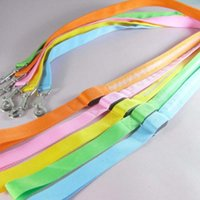 Wholesale flashing led safety dog collar resale online - 10pcs Safety Pet Dog leashes with LED Flashing during night mixed colors available pet Leads