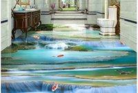papel de jardinería al por mayor-Adapte de cualquier tamaño Mural Wallpaper Paisaje cascada, agua, baldosas 3D, pintura tridimensional TV telón de fondo Dormitorio Papel de pared 3