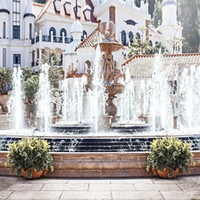 Wholesale Outdoor Photography Backdrops - Outdoor Wedding Photography Backdrops Vinyl Printed Square Fountain Retro Vintage Architecture Photo Studio Picture Shooting Backgrounds
