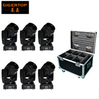 Wholesale Led White Cheap - Freeshipping Mini Size 60W Led Moving Head Spot Light Packed by 6IN1 Flight Case Cheap Price 7 colors+white 5 gobos+open Shaking 110V-220V