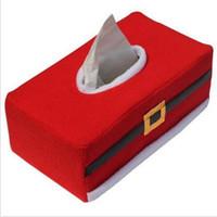 neuheit servietten großhandel-Heißer Verkauf Weihnachten Rechteck Tissue Box Abdeckung Papier Halter Hause Tisch Dekoration Weihnachten Geschenk Tissue Box Halter