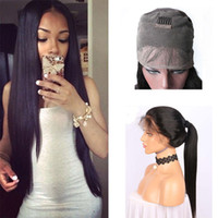 Wholesale 26 Inch Straight Wigs - Passion Hair 150% Density 360 Lace Frontal Wigs Pre Plucked With Baby Hair 10-26 inch Natural Color Peruvian Straight 360 Human Hair Wigs