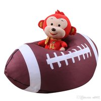 Wholesale stuffed toy clothes for sale - Group buy 18 Inches Clothes Toy Storage Bag Canvas Multi Balls Shape Organizer Stuffed Animal Plush Bean Bags Handhold cw ii