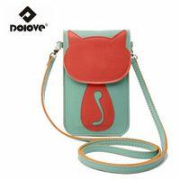 Wholesale Cartoon Screen - Wholesale- DOLOVE New Handbag Fashion Cartoon Touch Screen Mobile Phone Bag Mini Small Women Bag Ladies Crossbody Bag Women Messenger Bags