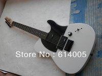 kaliteli gitar parçaları toptan satış-Ücretsiz kargo! Tele gitar Yüksek Kalite beyaz tele gitar EMG pikap standart telecaster elektrik gitar stokta siyah parçaları