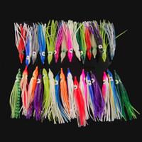 Wholesale luminous bait worms for sale - 100pcs cm Soft Plastic Octopus Fishing Lures For Jigs Mixed Color Luminous Silicone Octopus Skirt Artificial Jigging Bait