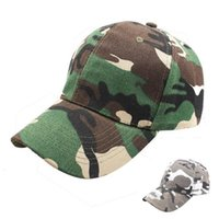 Wholesale camouflage caps hunting - Camo Baseball Cap Men Women Tactical Cap Camouflage Snapback Hat Hip-Hop Caps Outdoor Sports Hunting Fishing Hat LJJO4223