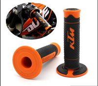 "Wholesale motorcycle handles - Orange KTM Handle Grip Motorcycle High Quality Dirt Pit Bike Motocross 7 8"" Handlebar Rubber Gel PRO Hand Grips Brake Hands CRF"