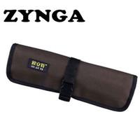 нейлоновые мешки оптовых-ZYNGA нейлон Оксфорд портативный гаечный ключ ручной мешок Roll Up держатель трещотки ручной инструмент для хранения организатор сумка 10 карманов Roll Tool Kit