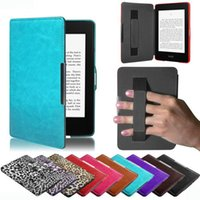 Wholesale Kindle Paperwhite Leather Cases - Leather Case Cover Funda with Hand Holder for Amazon Kindle Paperwhite 1 2 3 (All Versions: 2012,2013,2014,New2015)