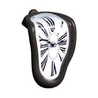 horloge murale numérique miroir achat en gros de-90 Degrés Temps de Cintrage 3D Mur Originalité Numérique Surface de Fusion Chambre Métal Acrylique miroir siège horloge mécanisme décorations