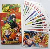 Wholesale dragon cards online - Anime Dragon Ball Z Super Mini Poker Playing Cards Figure Toys X3 CM