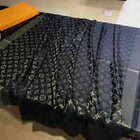 goldene schals großhandel-Klassische Marke Mode Paris Show Designer Schal Top Luxus goldenen Faden Wolle Textil Schal Frau Schal Schal 140cm