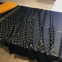 ingrosso tessuti classici-Sciarpa scialle donna sciarpa di stoffa lana di lusso a filato dorato di alta qualità di marca Parigi, sciarpa da 140 cm