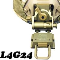 шлем nvg mount оптовых-Wilcox тип L4 G24 быстрый шлем CNC L4G24 NVG ночного видения шлем сфера крепление