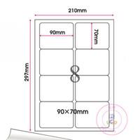Wholesale Wholesale Inkjet Printers - 240Pcs Lot 9*7cm Round Corner Square Self-Adhesive Sticker Label Printing A4 Kraft Paper Suit Laser Printers And Inkjet Printers