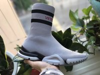 Wholesale girl knit boots - VETEMENTS SS CREW UNISES Sock Trainer Dropping RUNNING Shoes Socks Trainer Boots Knitting Womens Girls High Top Sports Casual Sneakers