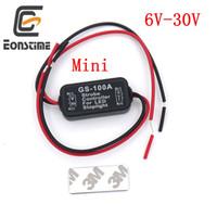 12v led mini luz estroboscópica al por mayor-Eonstime Mini GS-100A Flash Strobe Controller Módulo intermitente para el coche LED Lámpara de freno de parada de luz 12V-24V