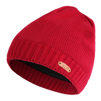 cb36554a915 KLV Men Women Winter Hot sales Hats Plush wool simple knit hat Male Female  Warm Winter Caps Hats dropship oct25