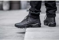 Wholesale Black Cushioned High Tops - High quality 95 Style Black Men's Cushion Sneakers Ankle Boots Maxes Hight Top Waterproof Work Boots Shoes Free Shipping