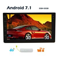 Wholesale antennas 4g - 4G Dongle GPS Antenna Android 7.1 Double 2din Octa Core Wifi Model NO DVD player IN dash car GPS Navigation Stereo System