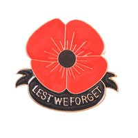 Wholesale forget gifts for sale - Red Poppy Flower Lest We Forget Brooches Pins For Women Gift Sweater Buckle