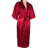 Wholesale navy blue silk kimono for sale - Navy blue Chinese Men s Robe Kimono Faux Silk Bath Gown Bathrobe Nightgown Sleepwear Hombre Pijama Size S M L XL XXL XXXL TB01M