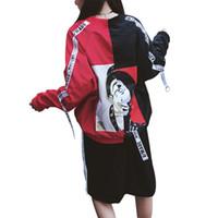 ingrosso gli uomini coreani si sfilano-Harajuku Donna Uomo Giacca bomber Preppy Stile Coppia Cappotto basic Moda coreana Sottile Capispalla Streetwear Donna Hip Hop Tops Kpop