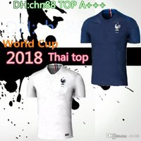 Wholesale F Foot - Top 2018 France World Cup Kit POGBA GRIEZMANN PAYET Mbappé DEMBELE KANTE Soccer Jersey 18 19 Maillot de foot de l'équipe nationale de F