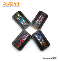 Wholesale box panels online - 100 Orginal VZONE eMASK MOD W TC Box Mod With Panel Lights User Option Powered by Dual Hi rate Cell NO Battery