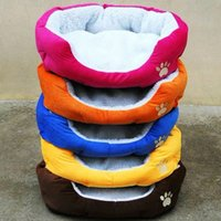 Wholesale colorful pet beds for sale - Group buy Colorful pet bed dog cat bed cotton warm dog beds in winter color red orange blue brown yellow rose pink size M L