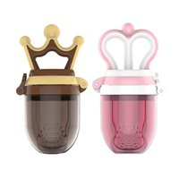 taze şişe toptan satış-Güzel bebek Emzik Prenses ve prens bebek meyve emzik Klipler Taze Gıda Süt Nibbler Besleyici yenidoğan Meme Şişeleri C4614