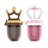 nippel milchflasche großhandel-Schöne Baby Schnuller Prinzessin und Prinz Kleinkind Frucht Schnuller Clips Frische Lebensmittel Milch Knabber Feeder Neugeborenen Nippel Flaschen C4614