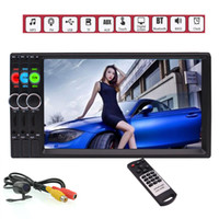 Wholesale mobile streaming music - 7'' 2 Din in Dash Stereo Car MP5 Player Handsfree Bluetooth Wireless Music Stream Autoradio Video Head Unit Capacitive Touch Screen FM USB
