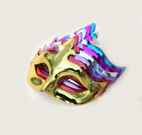 Wholesale Hot Pink Masquerade Masks - Promotion price!Solid color large crown queen masks Pub Masquerade Halloween party Birthday Mask Gold silvery red blue purple hot pink