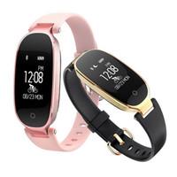 señoras bandas de reloj al por mayor-S3 Smart Wristbands Fitness Pulsera Monitor de Ritmo Cardíaco Activity Tracker Smartwatch Band Mujeres Ladies Watch para IOS Android Phone