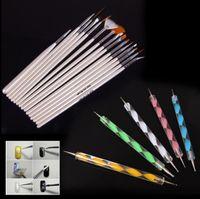 Wholesale brush bundle - Wholesale-Design Painting Dotting Detailing Nail Art Pen Brushes Bundle Tool Kit Set Nail Brush 80pcs Set Nail styling tools