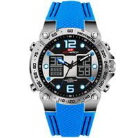 большие мужские спортивные часы оптовых-KAT-WACH Dropshipping 2018 Sports Watch Men Big Dual Time LED display Watch Face Quality and Diver