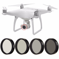 Wholesale len filter for sale - Group buy New pc ND2 ND4 ND8 ND16 Len Filter for DJI Phantom Professional Advanced Camera Camera Drone Lens Set Black Frame