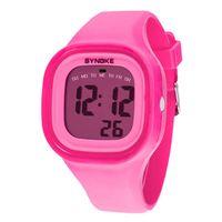 menino crianças relógios venda por atacado-Selljimshop 2017 1 PC Silicone LED Light Digital Esporte Relógio de Pulso Kid Mulheres Menina Men Boy Data Relógio Relógio 7 Cores Dropshipping