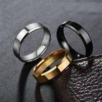 ingrosso anelli in titanio di tungsteno-Beichong alta lucido creativo semplice liscio puro acciaio al titanio tungsteno anello in acciaio inox per uomini donne regali