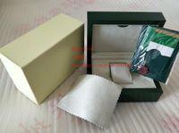 ingrosso fornitori di cuoio-Carta regalo originale verde con scatole regalo per orologi da donna, borse in pelle, carta 185mm * 134mm * 84mm 0.7KG per 116610 116660 116710 orologio
