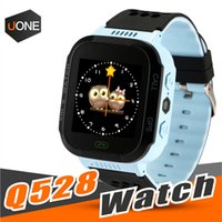 Wholesale children kids cute wrist watch - Cute Sport Q528 Kids Tracker Smart Watch with Flash Light Touchscreen SOS Call LBS Location Finder for kid Child PK Q50 GPS tracker