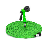 ingrosso spruzzi da giardino-7 In 1 Pistola a spruzzo 25-200FT Tubo flessibile da giardino estensibile Tubo flessibile in lattice Tubo flessibile flessibile per tubo da giardino in plastica Tubo da giardino blu