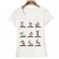 zen frauen großhandel-Chihuahua Basset Hound Boston Terrier Bullterrier Dackel Shih Tzu Zwergschnauzer Dog Yoge Zen Sie mögen Frauen T-Shirt