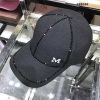 chapeaux chapeaux rebord de baseball achat en gros de-femmes Baseball Caps designer marque M luxe casquette de baseball Rivet imprimé femmes hommes Snapback Hip Hop chapeaux