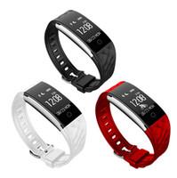 tw64 pulseira de fitness inteligente venda por atacado-Dinâmica da Frequência Cardíaca S2 Smartband Rastreador De Fitness Passo Contador Inteligente Watch Band Pulseira de Vibração para ios android pk ID107 fitbit tw64