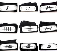 Wholesale naruto big - PrettyBaby ANIME Naruto Headband 95cm Leaf Village Logo Konoha Kakashi Akatsuki Members Cosplay Costume Accessories blue red black in stock