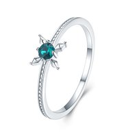 Wholesale free classic solitaire for sale - Group buy S925 sterling silver luxury Austria Crystal flower ring Classic Solitaire Ring fine jewelry making for women gifts free delivery SVR288
