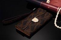 Wholesale Diamond Flip Cases - Fashion Designer Diamond Gold M Leather Wallet Flip Case For iPhone X 8 7 7plus 6 6s Plus Galaxy S9 S8 S8plus S7 edge Card Holder Cases